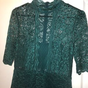 Classy Green Crochet Dress